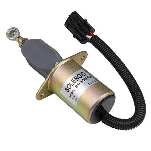 Replacement 12V Fuel Shut Off Solenoid 3' For 5.9L or 8.3L Cummins...