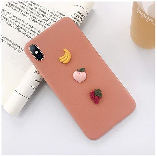 RTYI - Carcasa de silicona para iPhone 11 Pro XS Max XR X con diseño de letras de aguacate, XW0400 Naranja, For iPhone 8