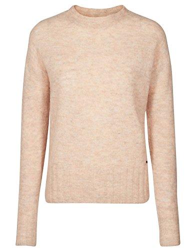 nümph Damen JAMBUL Knit Sweatshirt, Rosa (R.Dust Melange), 38 (Herstellergröße: M)