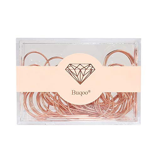 Rose Gold Paper Clips 30 Pcs Jumbo Size Paper Clips 50mm Large Non-Skid Steel Paper Clips Bookmark Clips for School Home Office Supplies