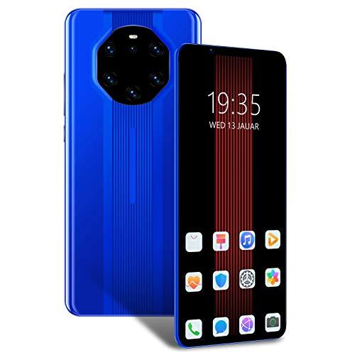 cigemay Teléfono móvil, Mate40 RS 512 MB + 4 GB, teléfono Inteligente Desbloqueado sin SIM, teléfono con Pantalla Full HD de 5,8 Pulgadas, batería de 3800 mAh, cámara Dual, teléfono Android 6.1(Azul)