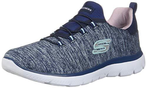 Skechers Damen Summits-Quick Getaway Sneaker, Blau, 40 EU