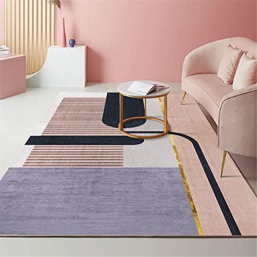 """Kunsen alfombras Online pie de Cama La Alfombra del salón es Lavable a máquina en Rosa Rectangular antiincrustante y Antideslizante. Home alfombras Infantiles 120X180CM 3ft 11.2"""" X5ft 10.9"""""""