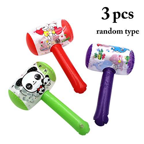 Joyibay 3PCS Martello per Bambini Giocattolo Gonfiabile Rumoroso con Bell (Colore Casuale)