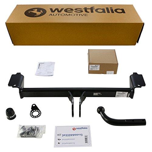 Starre Westfalia Anhängerkupplung für X3 (BJ 11/2010 - 09/2014) im Set mit 13-poligem fahrzeugspezifischen Westfalia Elektrosatz