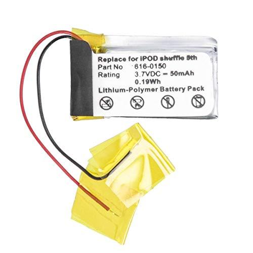 Akku-King Akku kompatibel mit Apple 616-0150, 616-0548 - Li-Polymer 50mAh - für iPod Shuffle 4. / 5. Generation/BENQ 3D Glass