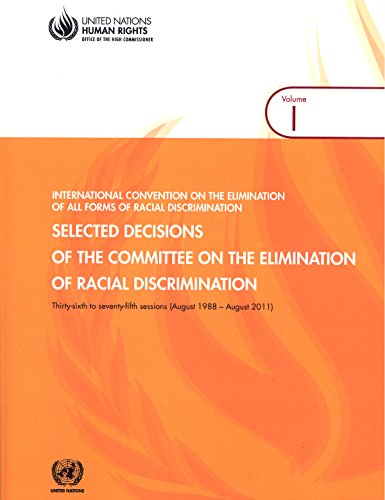 Selected Decisions of the Committee on the Elimination of Racial Discrimination