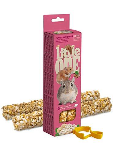 Little One Sticks für Hamster, Ratten, Mäuse und Rennmäuse mit gepufftem Reis und Nüssen 110 gram