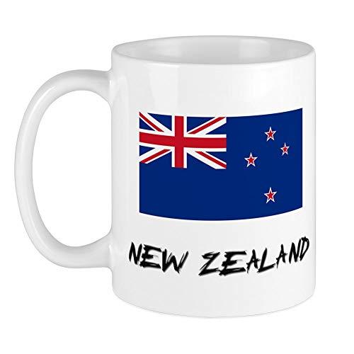 CafePress Tasse mit Neuseeland-Flagge, weiß, S