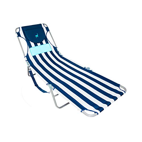 Ostrich LCL-1006S LCL Ladies Comfort Lounger, Blue and White Striped