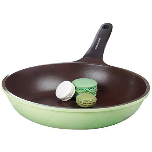 SMEJS Mini poêle à oeufs et à omelettes avec revêtement antiadhésif de titane et de céramique Pan Poêle à frire ronde en pierre avec poêle for poêle, for cuisinière à gaz, électrique et céramique