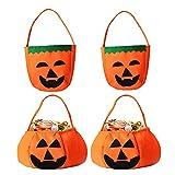 JINCHENG Zucca di Halloween Borse, Forma di Zucca Borse, Halloween Borsa per Caramelle, Dolcetto o Scherzetto Halloween, per la Decorazione della Festa di Halloween per Bambini