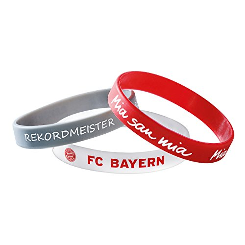 Bayern München kompatibel Armband 3er Set + Aufkleber München Forever, Bracelet, pulsera, bransoletka