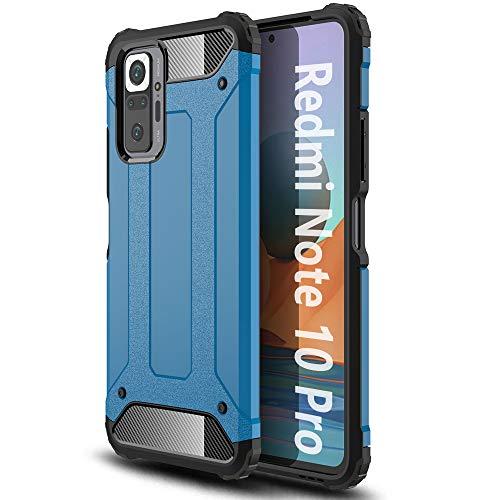 ALAMO Funda de Armor para el Xiaomi Redmi Note 10 Pro, Carcasa de TPU+PC con Antigolpes Bumper - Azul