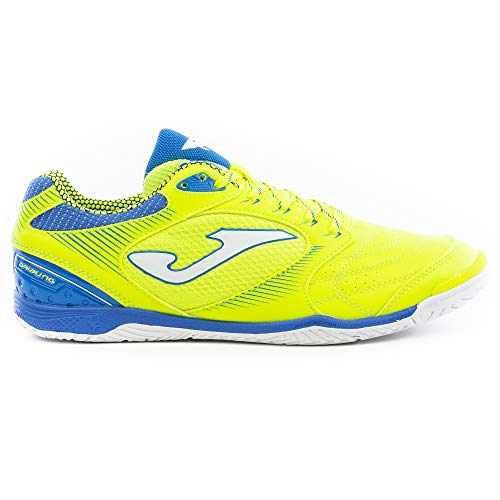 Joma Men's Dribling ID Indoor Soccer Shoes (12.5, Fluoro Yellow/Blue)