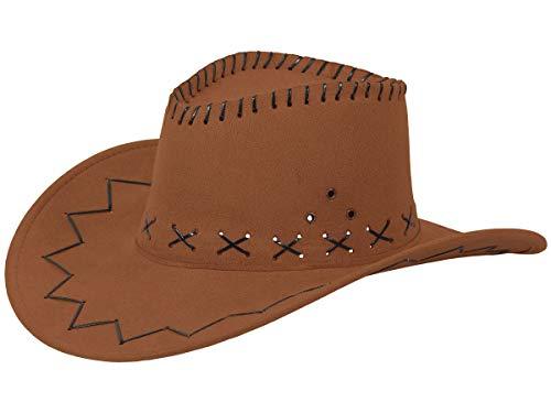 Alsino Cowboyhut Westernhut in One Size Größe aus Polyester, Braun (04)