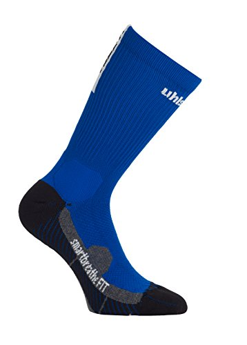 uhlsport Tube It Calcetines con Grip, Hombre, Azur/Blanco, 41-44