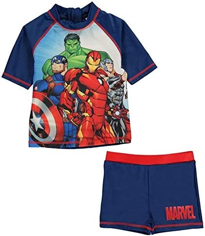 Character Marvel Avengers Swimsuit Set 2 Pieces Tshirt and Shorts Boy (5-6 Years)