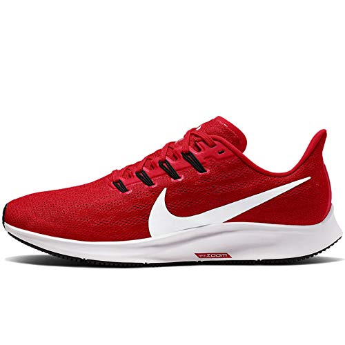 Nike Mens Air Zoom Pegasus 36 Running Shoe University Red/White 10 M US