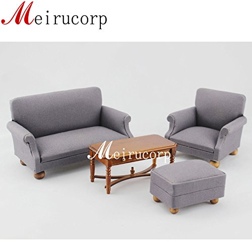 Meirucorp Fine 1:12 Scale Dollhouse Miniature Furniture Living Room Set Sofa Table