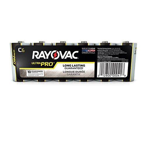 Rayovac Batteries AL-C Alkaline Batteries, Size C (Pack of 6)