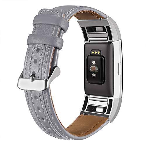 XIALEY Correa De Cuero Compatible con Fitbit Charge 2, Correas De Repuesto para Hombres Y Mujeres, Reloj Inteligente Pulsera Deportiva, Brazalete Reemplazo para Charge 2,E
