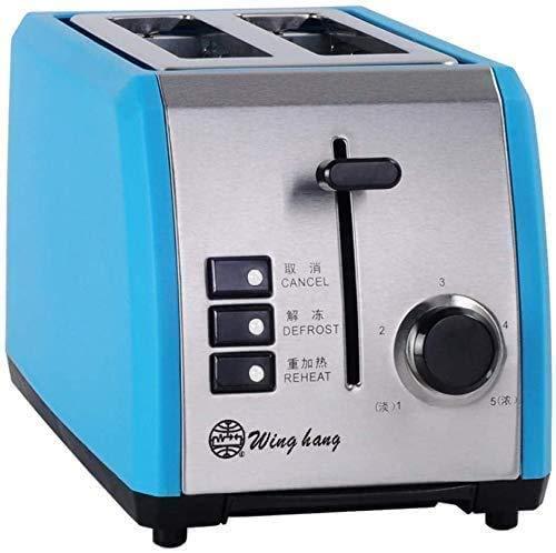 Broodmachines, Toaster Broodrooster Huis 2 delig Automatische Broodrooster-Orange (Kleur: Blauw) ZHW345