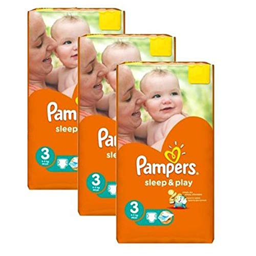 Couches Pampers - Taille 3 sleep & play - 246 couches bébé