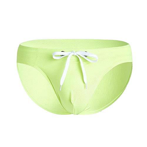 Hommes Sexy sous-Vêtements ,Bikini Court Masculin, Culotte de Surf de Maillot de Bain Sexy, Sac Gay-Vert_L