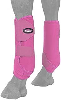 Tough-1 Extreme Front Vented Sport Boots Pink - Set of 2 Large
