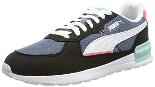 PUMA GRAVITON, Zapatillas Unisex Adulto, China Blue White Black Paradise Pink Eggshell Blue, 38 EU