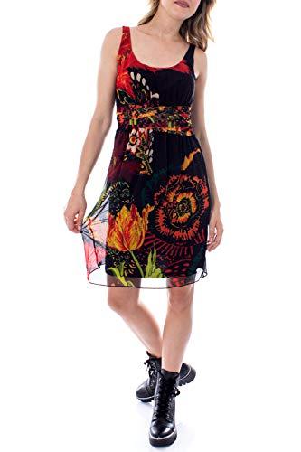 Desigual Vestido Corto Mujer Small Negro