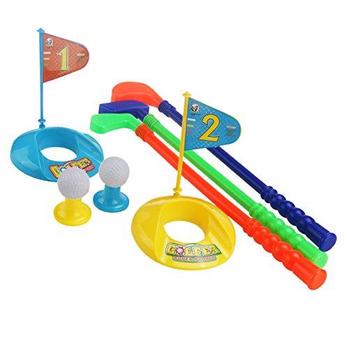 PIXNOR Jeu de sport Jouet Extérieur enfants plastique Golf golfeur Set jouet coloré
