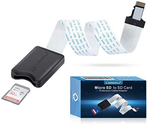 Lanmu, cavo di prolunga flessibile da micro SD a scheda SD, per adattatore SD/RS-MMC/SDHC/MMC per Mini stampante 3D Monoprice Anet A8, stampante 3D, Raspberry Pi/GPS/TV, 25 cm