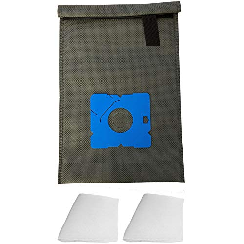 Wiederverwendbarer Dauer-Textil-Staubsaugerbeutel kompatibel für AEG & Electrolux AE 2000 - Ergo Essence, AE 2000 Trio, AE 4500 – 4599, AE 4500… 4599 Serie - Ergo Essence, MM 2000 - Vampyr
