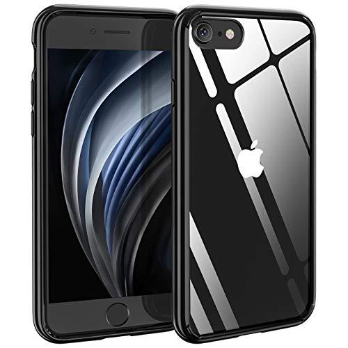 Funda Compatible con iPhone 8/7/SE 2020 – Syncwire antiamarillo con cojín de Aire, protección contra caídas, de Silicona, Transparente, Borde Negro