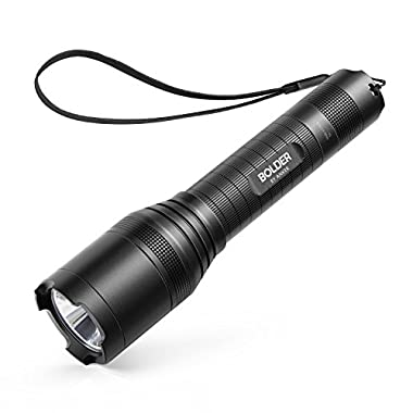 Anker Super Bright Tactical Flashlight, Rechargeable (18650 Battery Included), Zoomable, IP65 Water-Resistant, 900 Lumens CREE LED, 5 Light Modes for Camping and Hiking, Bolder LC90