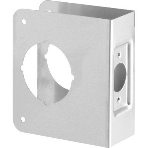 Defender Security U 9553 Lock & Door Reinforcer, 2-1/8 in. x 2-3/8 in. x 1-3/4 in., Stainless Steel, Recessed