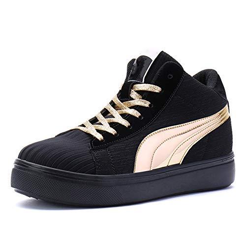 Botas Nieve para Hombre y Mujer Zapatos Exterior Aislados Ocio Más Zapatos Algodón Cachemira Botas Invierno Cálidas,Oro,39EU