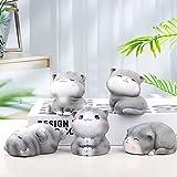 Gxklmg Estatua de 5 Piezas de Gatos, Adorable Juego de Figuras de Gatito de Resina,...