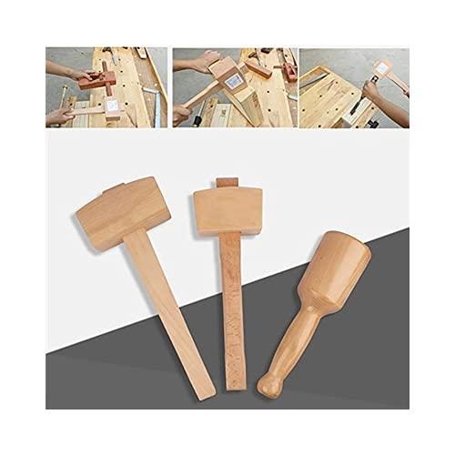 GGCG 80-130mm Sólido Pequeño Hammer de Beechwood Carpenter Mallet para DIY Knock Woodworking Hogar Multi Mano Herramienta de instalación-130mm-395g (Color : 100 Mm - 280 G)