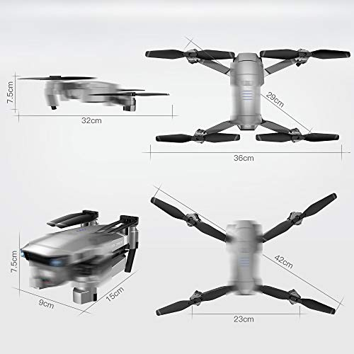 TOOGOO Sg907 Drohne mit 4K HD GPS 5G WiFi 50X Zoom Kamera Drohne Kamera RC Drohne BüRstenlos Selfie mit Drohne Lange Zeit Fliegen