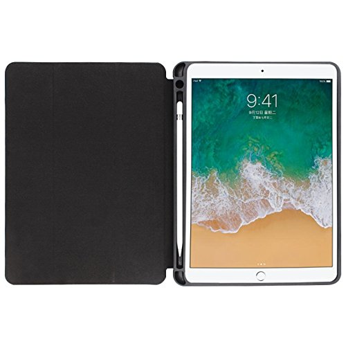 iPad Pro 12.9' Folio Cover Magnetic Closure Auto Sleep Wake with Apple Pencil Slot Holder and Stand for iPad Pro 12.9 inches 2nd generation in Black