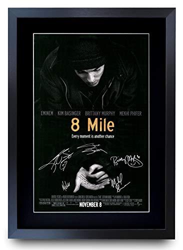 HWC Trading Poster mit Autogramm, A3 FR 8 Mile The Cast Eminem Kim Basinger, gerahmt, A3