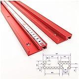 Laecabv 45 pistas de ingletadora T-Track de 800 mm, aleación de aluminio T Track Miter Track Jig Ranura de fijación para sierra de mesa, herramienta de carpintería