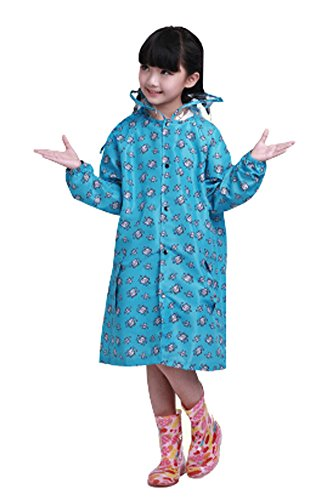 coréen étoiles Lovely bébé imperméable Mode enfants pluie Bleu S