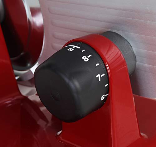 RGV Luxor 20 Affettatrice, Argento/ Rosso