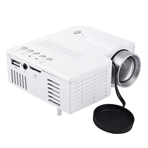 Mini draagbare LED-projector LCD 1080P HD Multimedia Home Cinema Theater USB TF HDMI AV LED Beamer-projector voor thuisgebruik,White