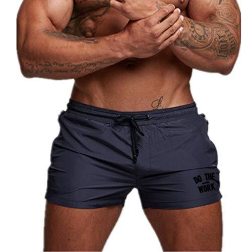 Ideato per bodybuilding . Possono essere pantaloncini casuali, corsa, yoga o jogging anche. Cintura elastica con coulisse regolata all'interno, con entrambe le tasche laterali. Pantaloni sportivi,i pantaloncini sportivi uomo sono in tessuto leggero e...