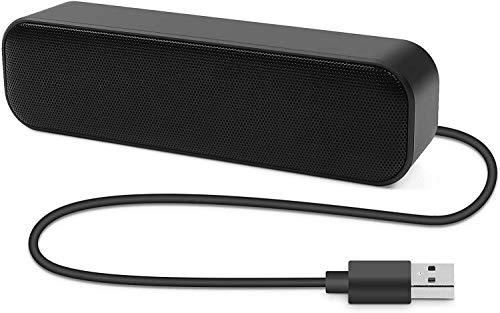 Barra de Sonido para PC, Altavoz USB, Mini USB, Altavoz portátil con Sonido Envolvente 3D, Plug and Play, diseño Antideslizante, Amplia compatibilidad para PC, Ordenador de sobremesa o portátil